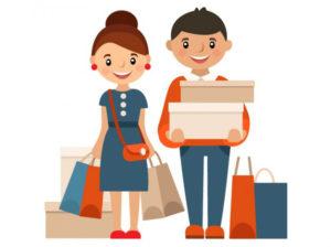 clienti-negozio-shelf-marketing-happy