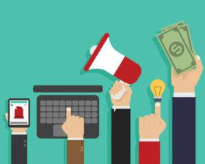 illustrazione con digital marketing per facebook ads